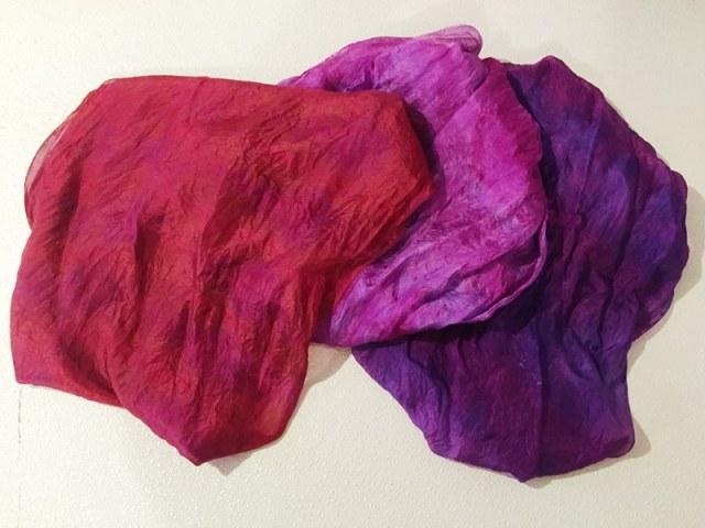 3 silk scarves