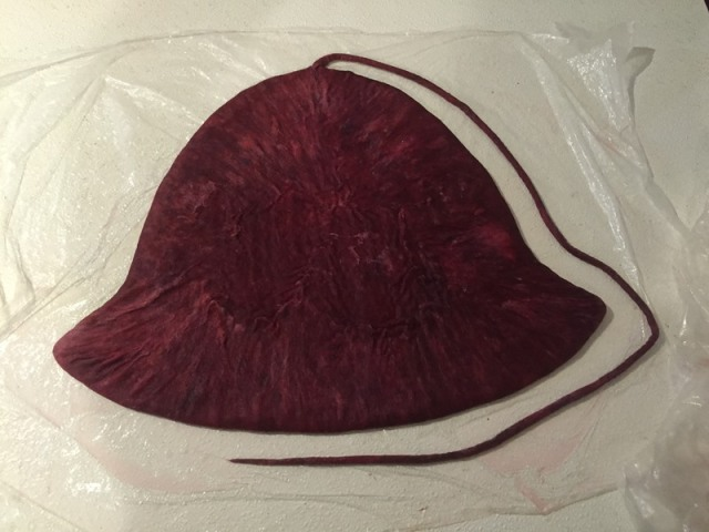 Hat ready to felt.