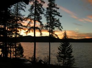 Sunset at Kiwanis Lodge