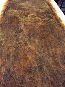 silk on brown