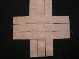 Burlap Strap Weaving