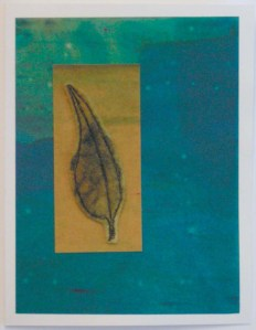 Felt Free Motion Stitched Falcate Leaf Card