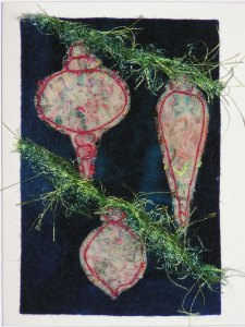 Thread Felt Ornament Card