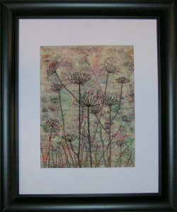 Framed Free Motion Stitched Seed Heads