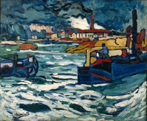 Barges on the Seine, Maurice de Vlaminck, Wikipedia