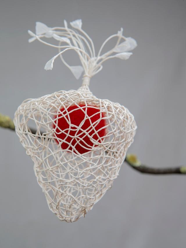 felt and paper cape gooseberry