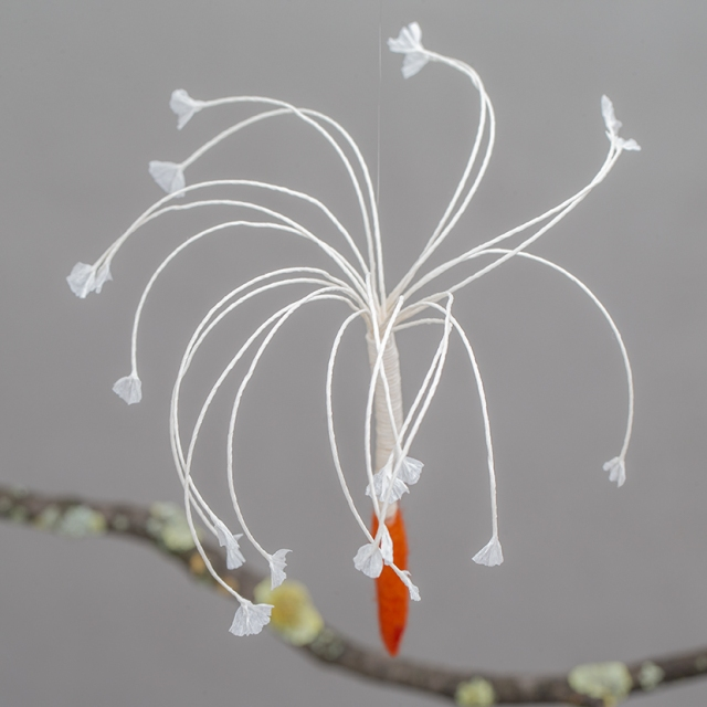 felt and paper dandelion seed
