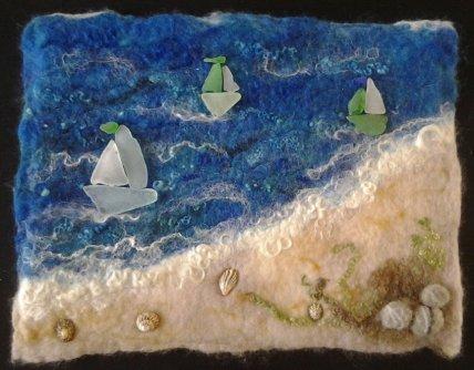 Tracey's sea glass boats