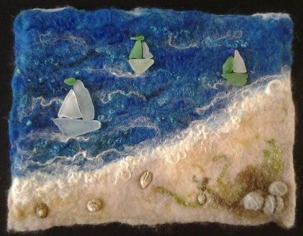 Tracey's sea glass boats