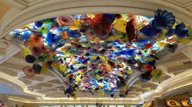 Chihuly glass installation at the Bellagio in Las Vegas 1